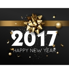 Happy New Year 2017 greeting card or poster vector image vector image
