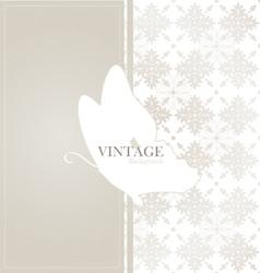 Vintage card with vintage background vector image