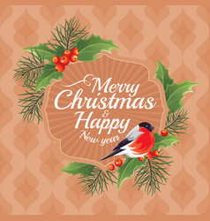 2018 christmas and happy new year greeting card vector image