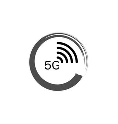 5g new wireless internet wifi connection logo vector image