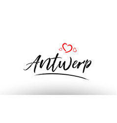 Antwerp europe european city name love heart vector