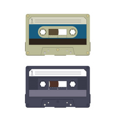 audio casette design vector image