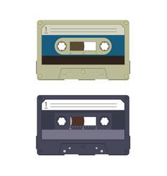 Audio cassette design vector
