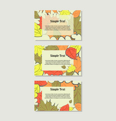 autumn banner set vector image