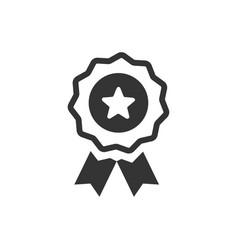 Award ribbon icon vector