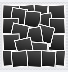 background with blank photo frames vector image