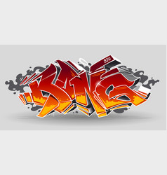 bang graffiti art vector image