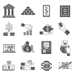Banking Icon Black Set vector image