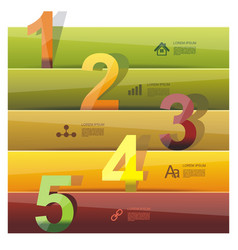 Banners with color numbers vector