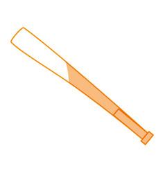 Baseball bat equipment vector