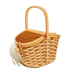 Basket for picnic vector