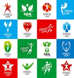Biggest collection logos for fitness clubs vector