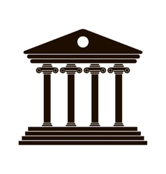 Black greek colonnade vector