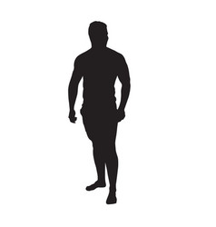 black silhouette man vector image