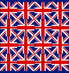 British seamless pattern vector image