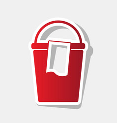 Bucket and a rag sign new year reddish vector