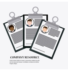 Businessman cv document icon vector
