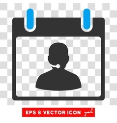 Call Center Manager Calendar Day Eps Icon vector image