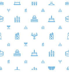 Candle icons pattern seamless white background vector