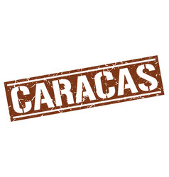 caracas brown square stamp vector image