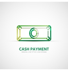 cash payment company logo business concept vector image