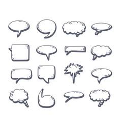 chat bubble element set doodle drawing speech vector image