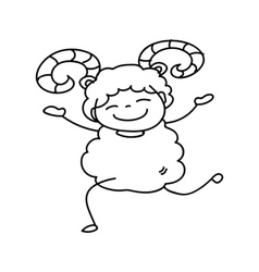 Chinese New Year cartoon character vector image
