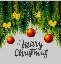 Christmas fluffy tree template vector