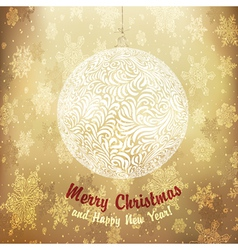 Christmas golden ball vector image