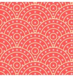 circle with star shape seamless pattern vector image