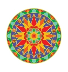 Colour flower mandala ethnic decorative vector