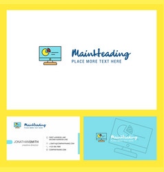 computer presentation logo design with tagline vector image