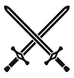 Crossed swords icon simple style vector