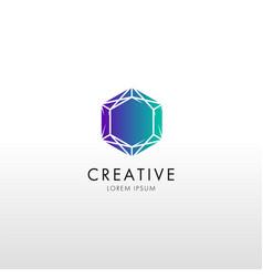 crystal gradient logo vector image