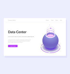 data center concept web template violet vector image
