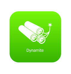 dynamite icon green vector image