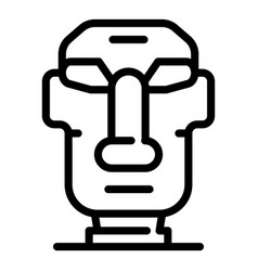 Easter island moai statue icon outline style vector