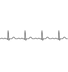 Ekg line heartbeat vector