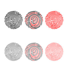fingerprint buttons set vector image