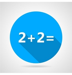 Flat icon for mathematics vector image