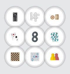 flat icon play set of multiplayer people guess vector image