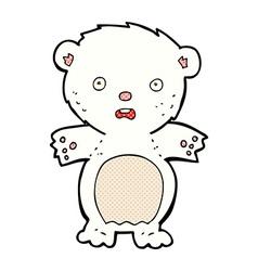 Frightened polar bear comic cartoon vector