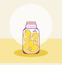 Fruits mason jar vector
