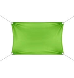 Green Blank Empty Horizontal Rectangular Banner vector image