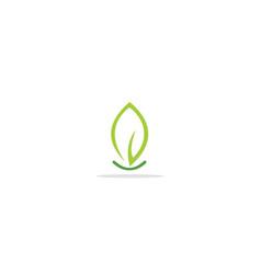 Green leaf nature sign logo vector