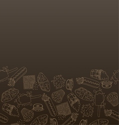 Hand drawn sweets vector image