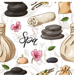 healthcare and beauty seamless pattern spa vector image