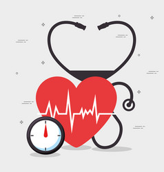 healthy heart lifestyle concept desig vector image