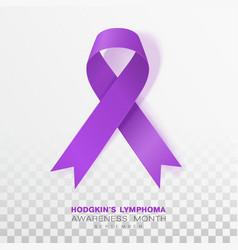 Hodgkins lymphoma awareness month violet color vector