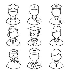 icons people occupation vector image